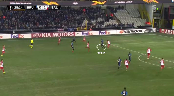 Red Bull Salzburg Club Brugge UEFA Europa League Tactical Analysis Statistics
