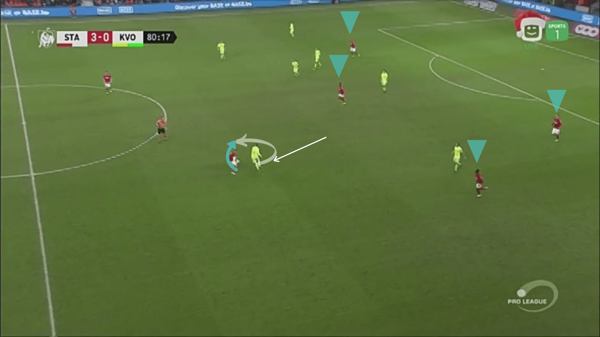 Răzvan Marin Standard Liège Tactical Analysis Statistics