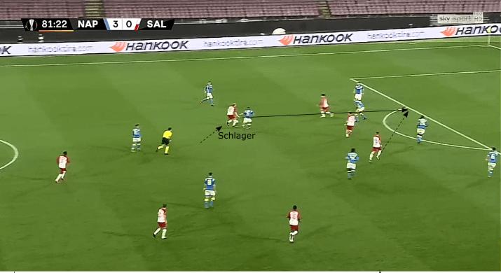 Xaver Schlager RB Salzburg tactical analysis statistics