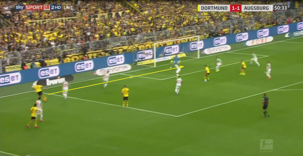 Bundesliga 2019/20: Borussia Dortmund vs Augsburg - tactical analysis tactics