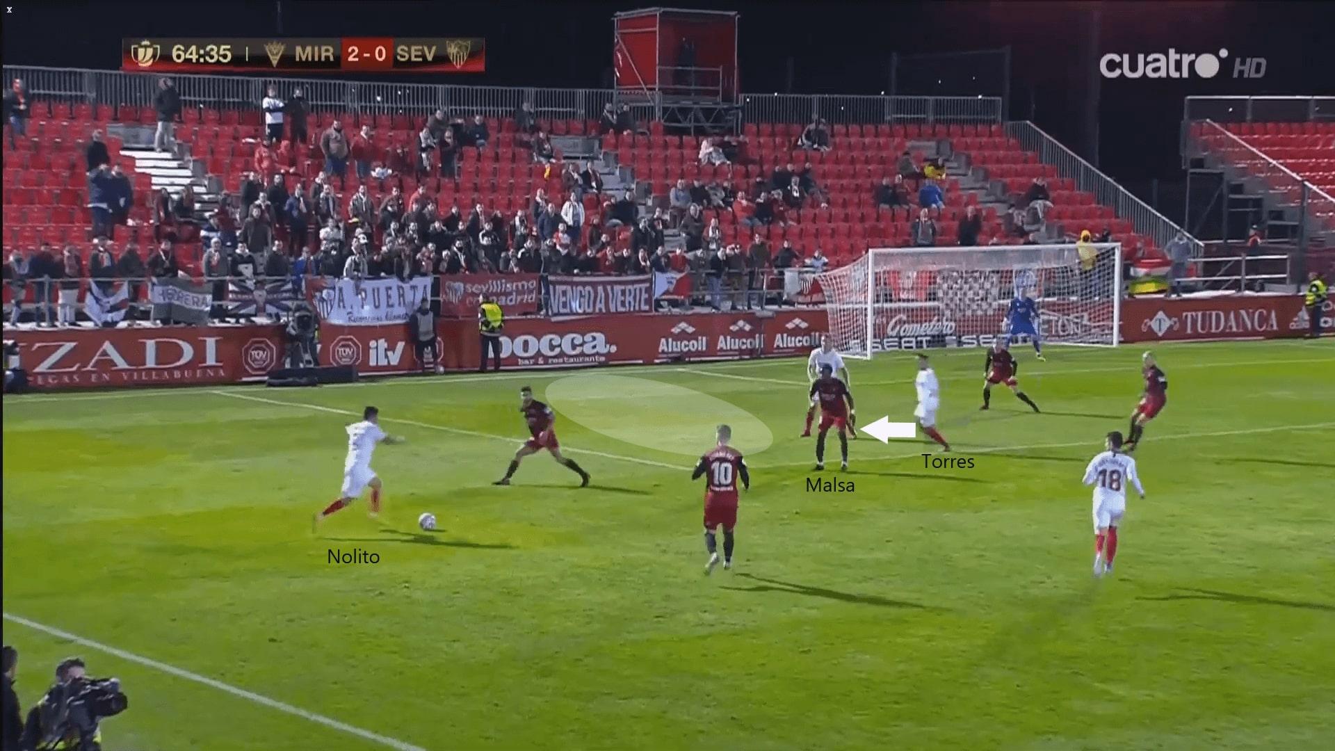 Copa del Rey 2019/20: Mirandés vs Sevilla - tactical analysis tactics
