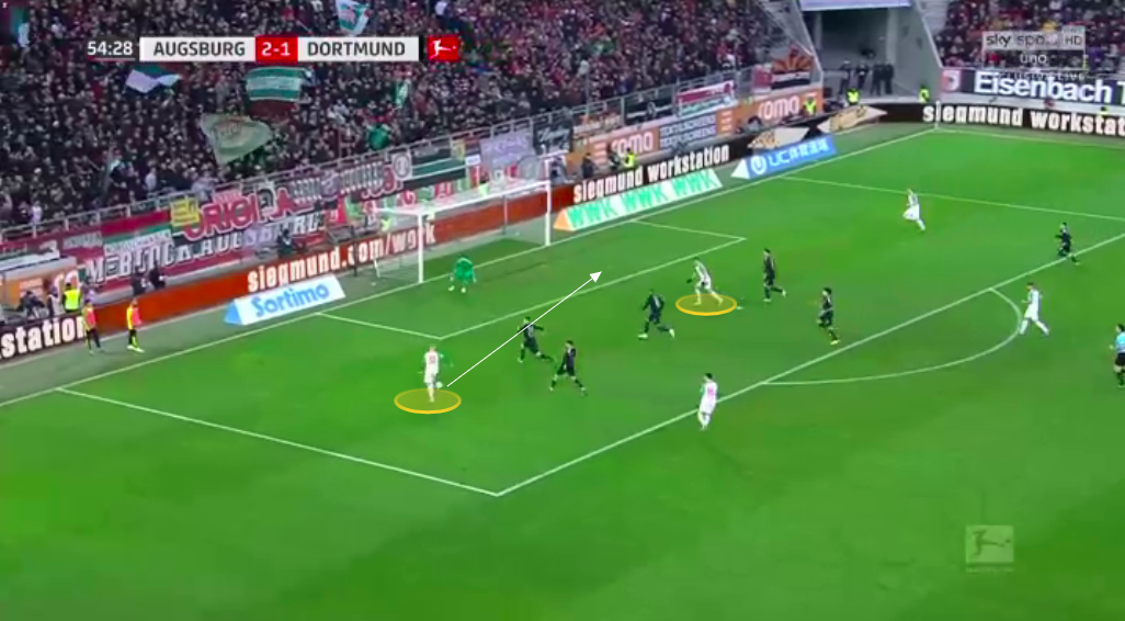 Bundesliga 2019/20: Augsburg vs Borussia Dortmund - tactical analysis tactics