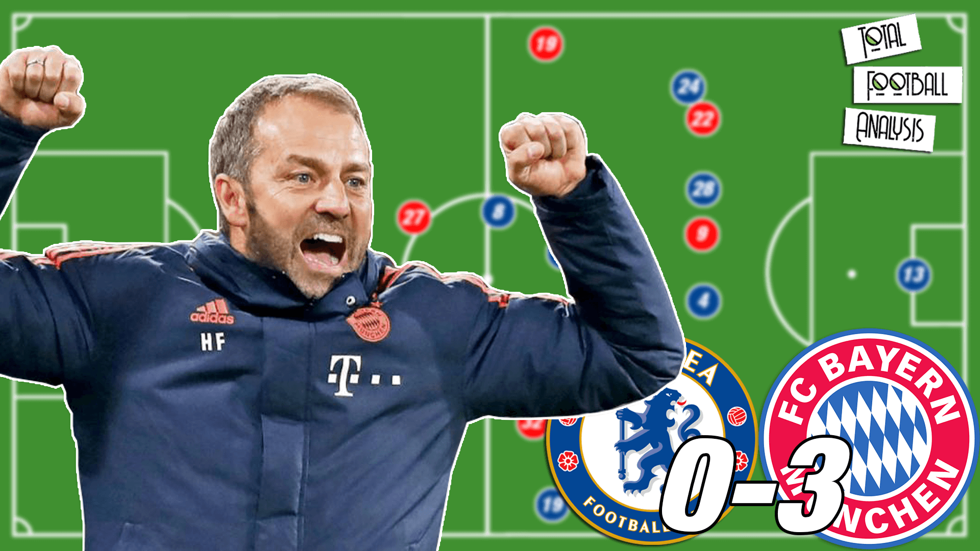 Video: Flick's Bayern tactics against Chelsea - tactical analysis tactics