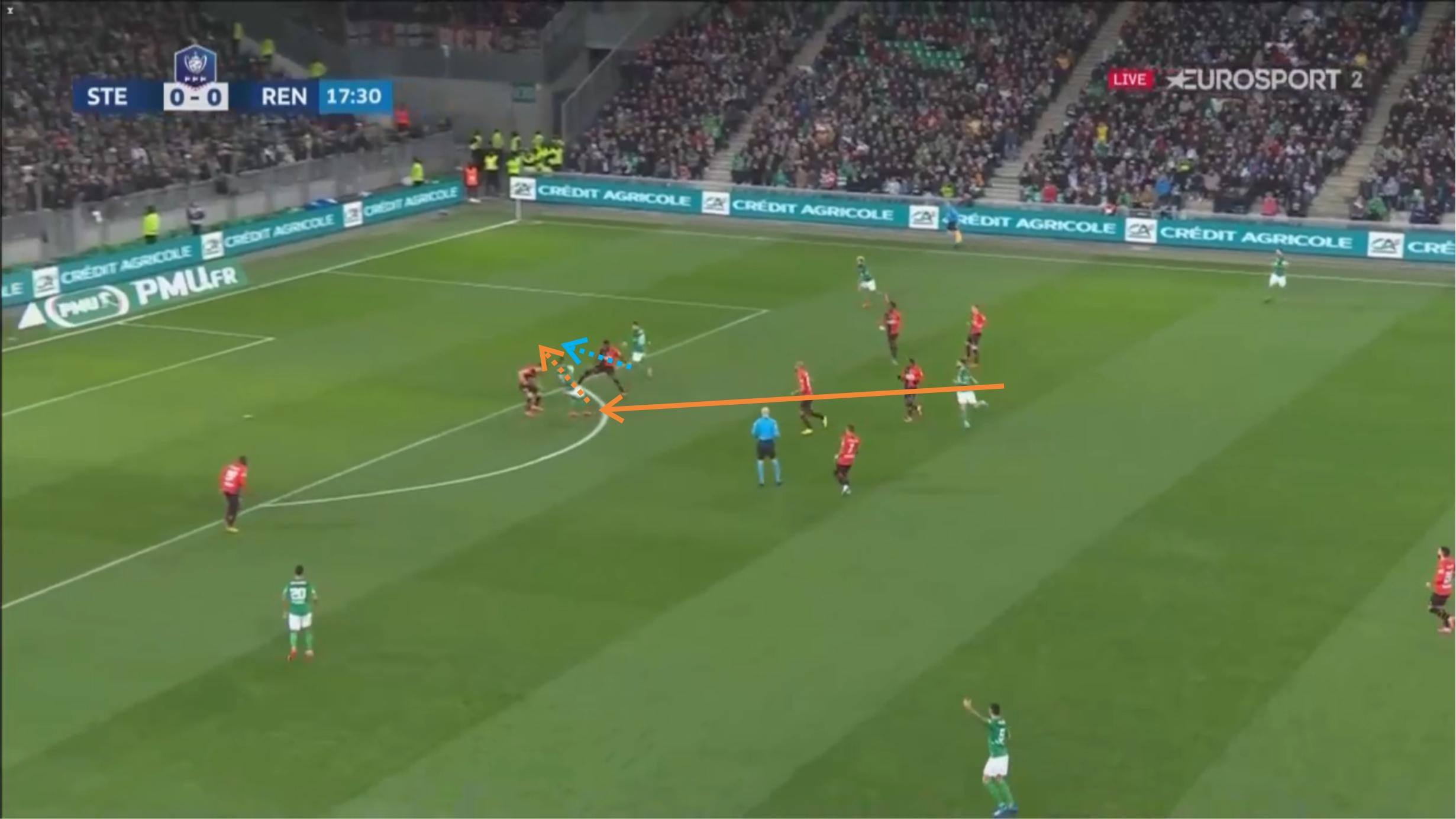 Coupe de France 2019/20: Saint-Etienne vs Rennes - tactical analysis - tactics