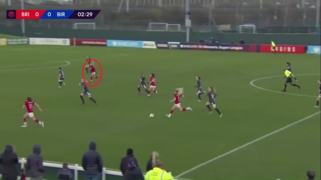 Ebony Salmon at Bristol City Women 2019/2020 - scout report - tactical analysis tactics