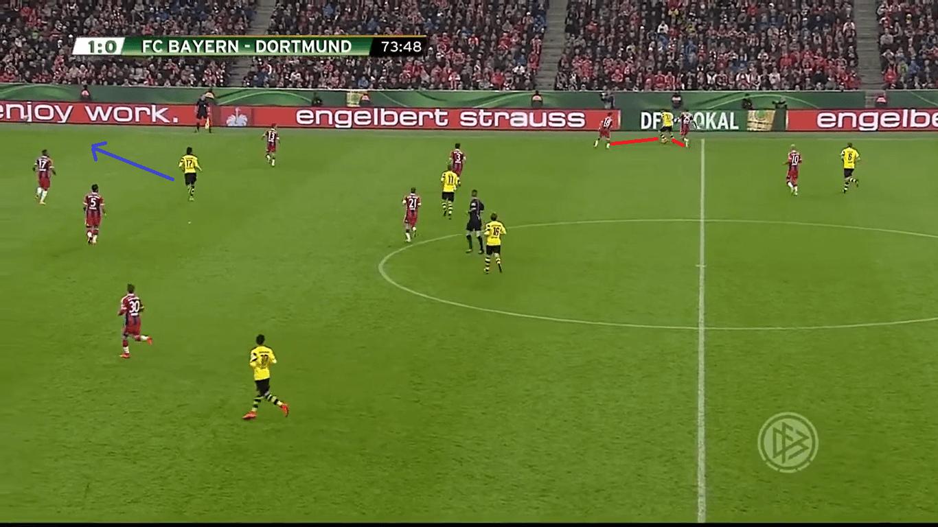 DFB Pokal 2015: Bayern vs Dortmund - tactical analysis tactics