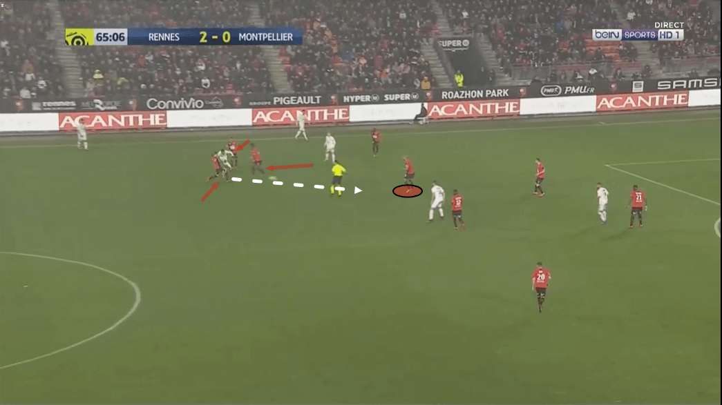 Steven Nzonzi at Rennes 2019/20 - scout report - tactical analysis tactics
