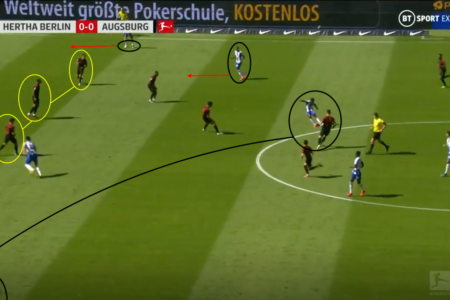 Bundesliga 2019/20: Hertha Berlin vs Augsburg – tactical analysis tactics