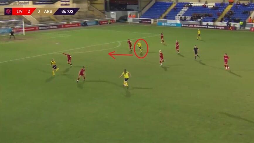 Jordan Nobbs at Arsenal Women 2019/2020 - scout report - tactical analysis tactics
