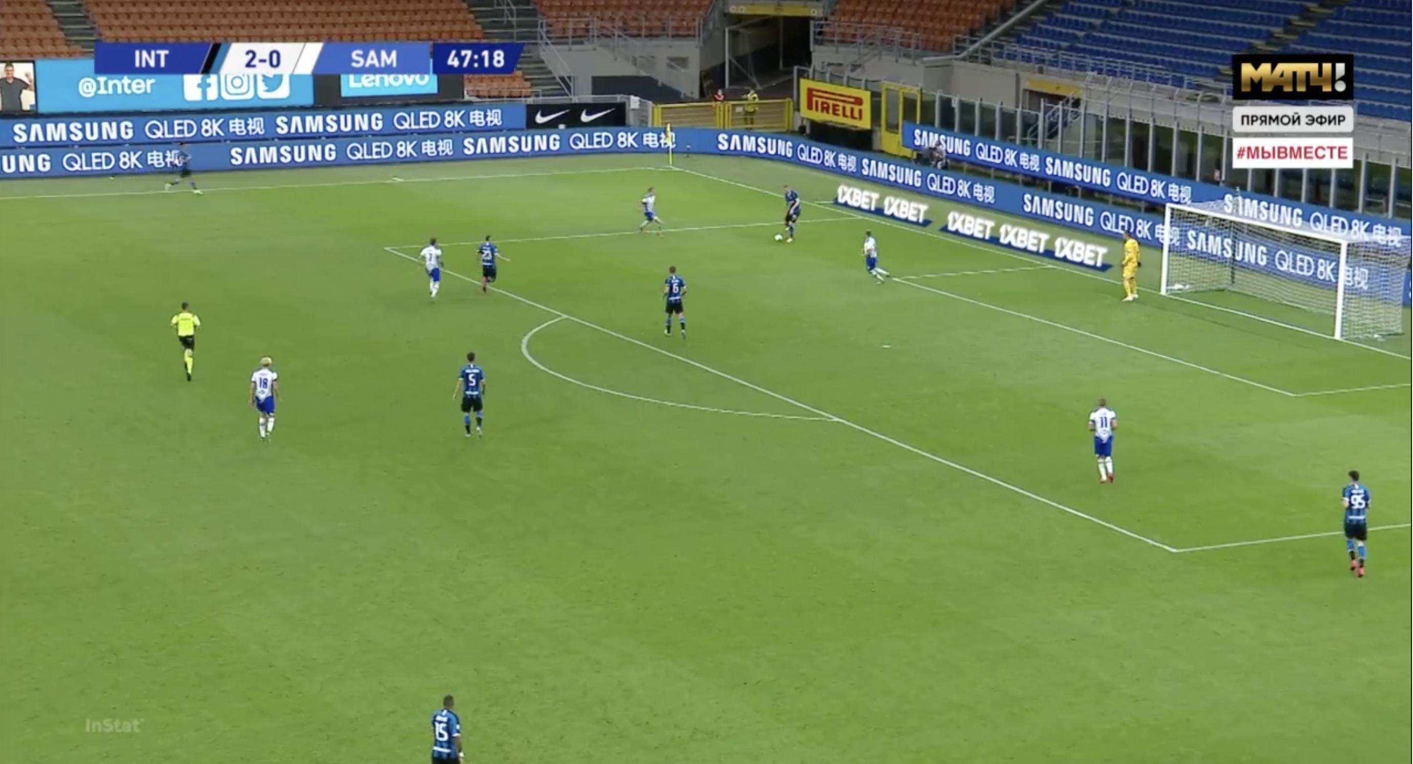 Serie A 2019/20: Inter Milan vs Sampdoria - tactical analysis tactics