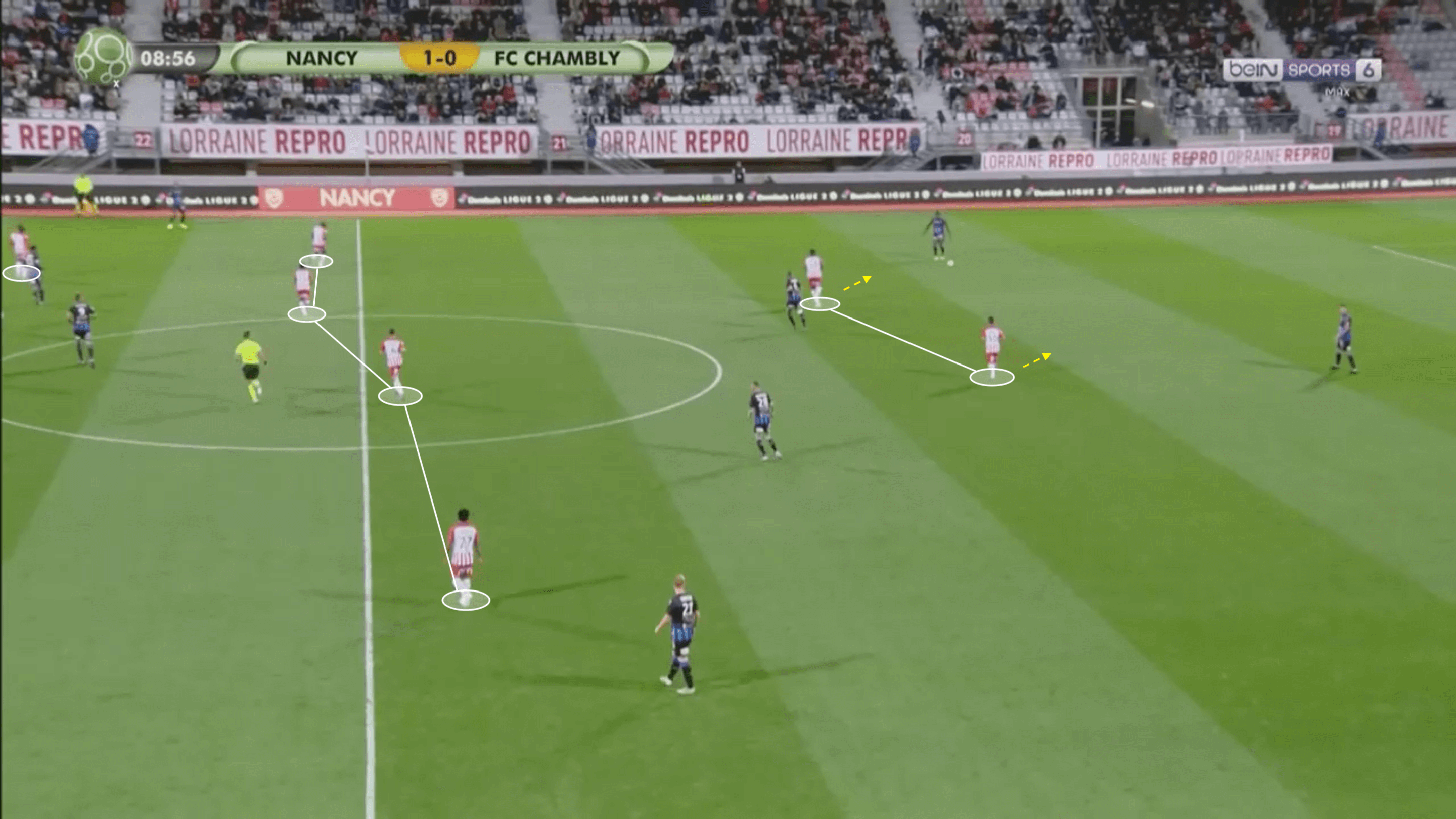 Amine Bassi at Nancy 2019/2020 - scout report- tactical analysis tactics
