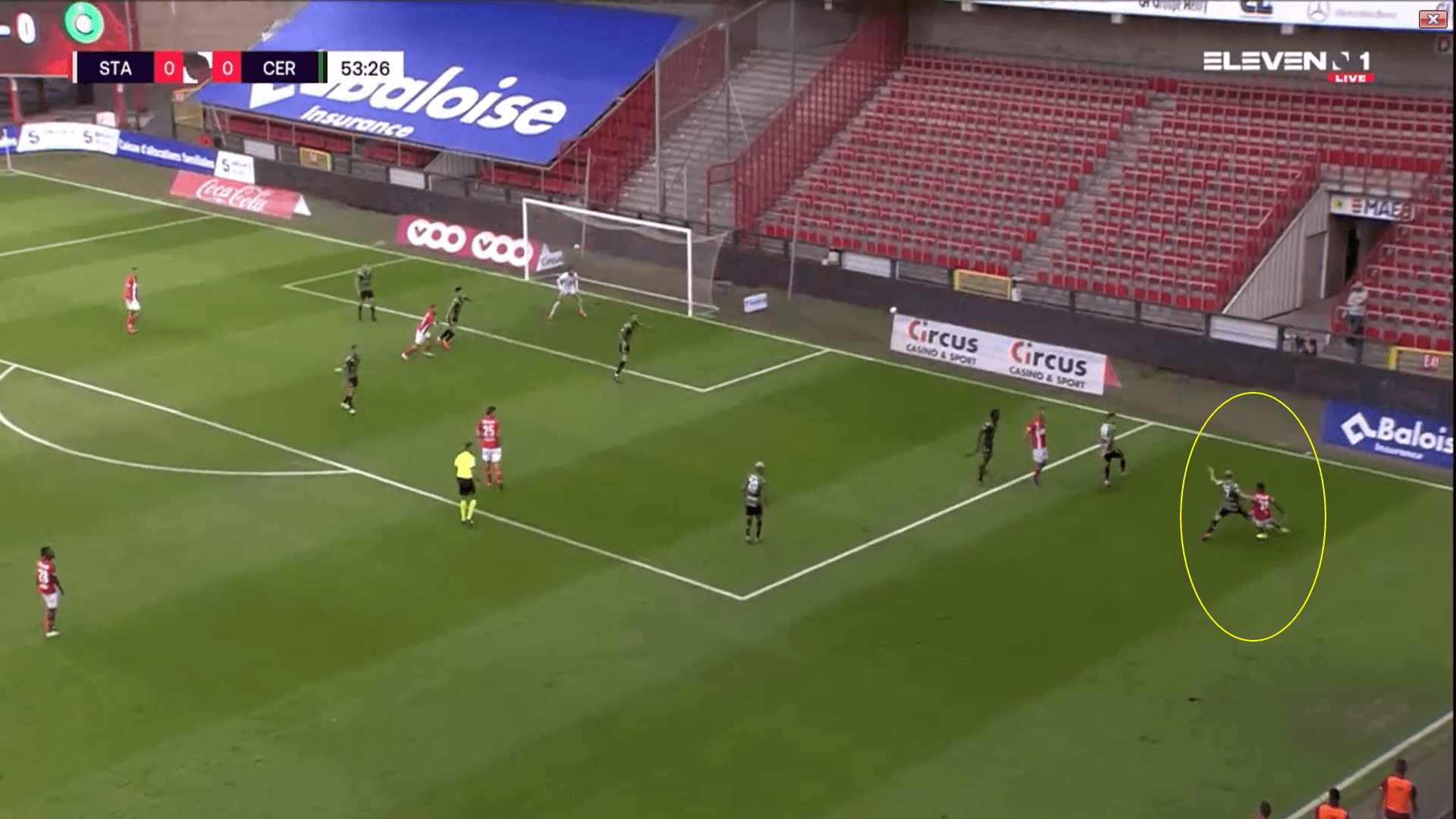 Belgian Pro League 2020/21 Standard Liege v Cercle Brugge - Tactical Analysis Tactics