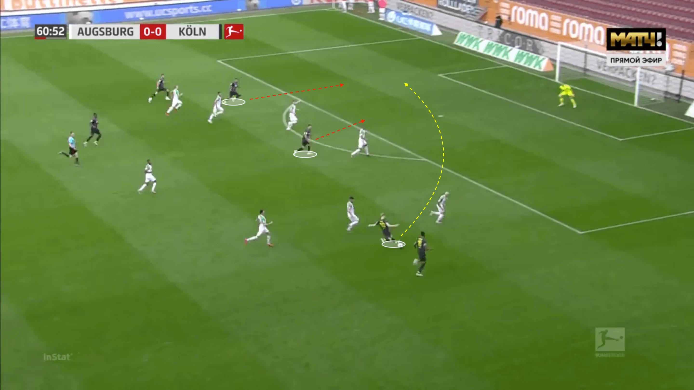 Florian Kainz at FC Koln 2019/2020 - scout report - tactical analysis tactics