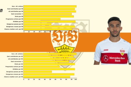 Nicolás González at Stuttgart 2019/2020 - scout report - tactical analysis tactics