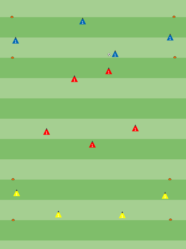 Coaching: Training sessions with COVID-19 restrictions - tactical analysis tactics