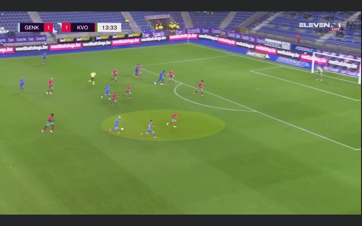 Belgian First Division A 2020/21: Genk vs Oostende - tactical analysis tactics