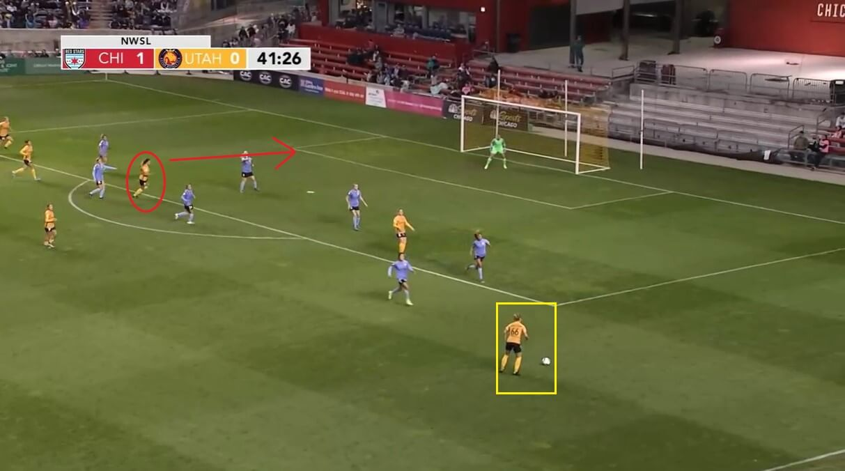 Christen Press at Manchester United Women 2020/2021 - scout report - tactical analysis tactics