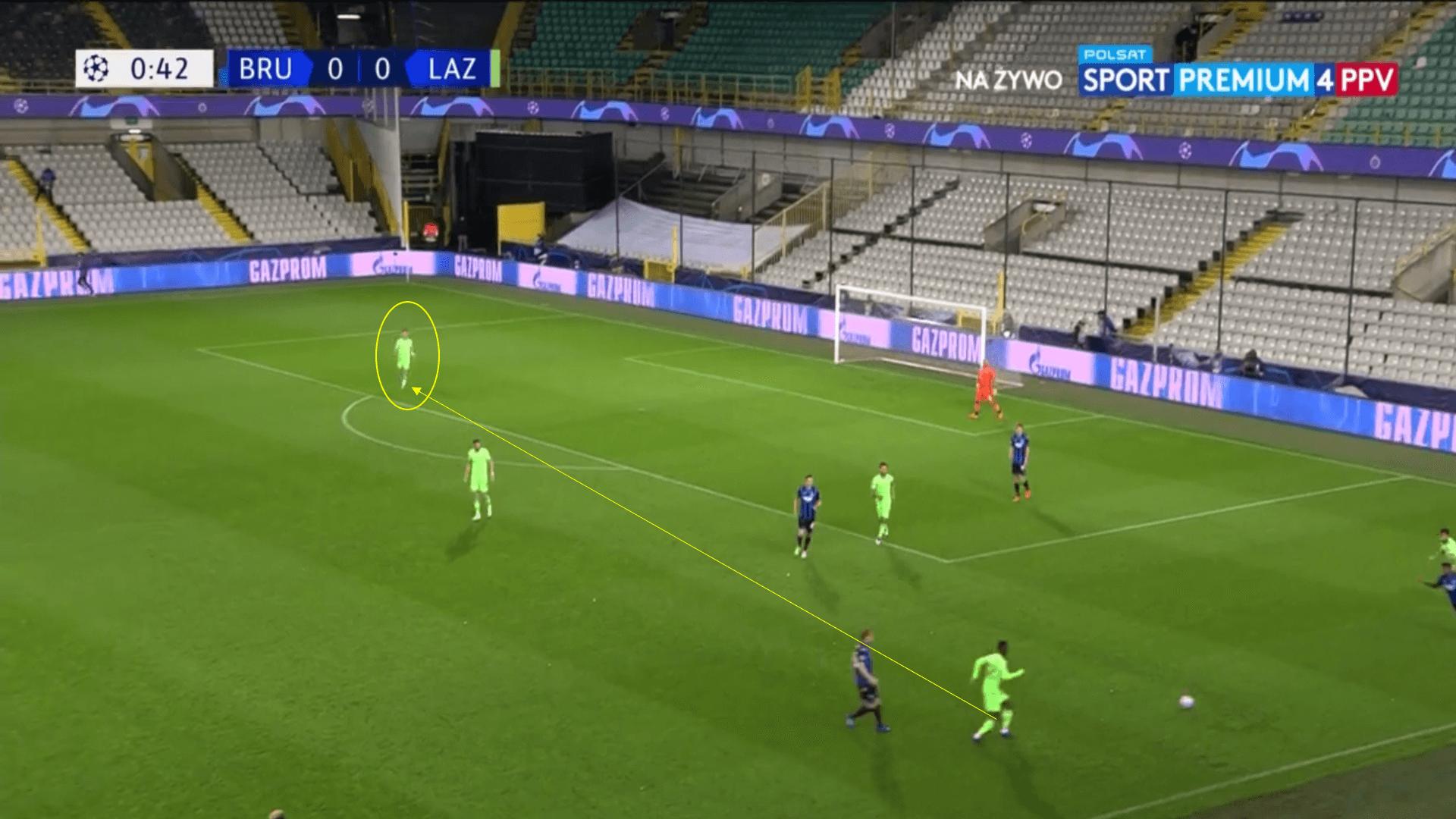UEFA Champions League 2020/21 - Club Brugge v Lazio - Tactical Analysis Tactics