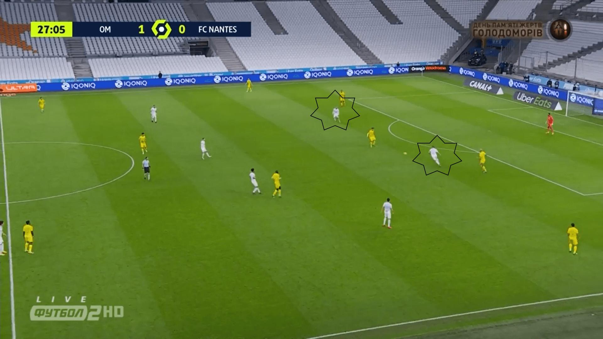 Ligue 1 2020/21: Marseille vs Nantes - tactical analysis tactics