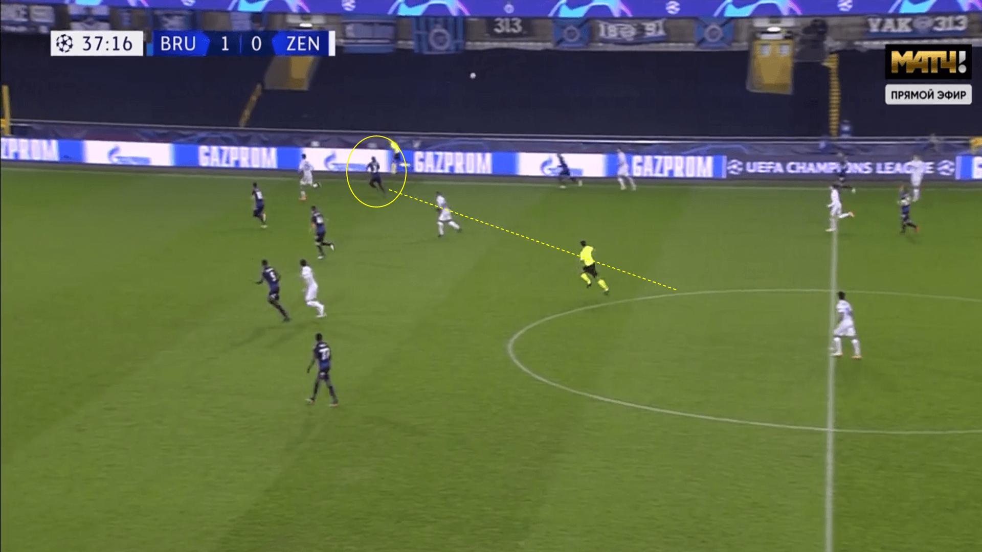 UEFA Champions League 2020/21 - Club Brugge v Zenit St Petersburg - tactical analysis tactics