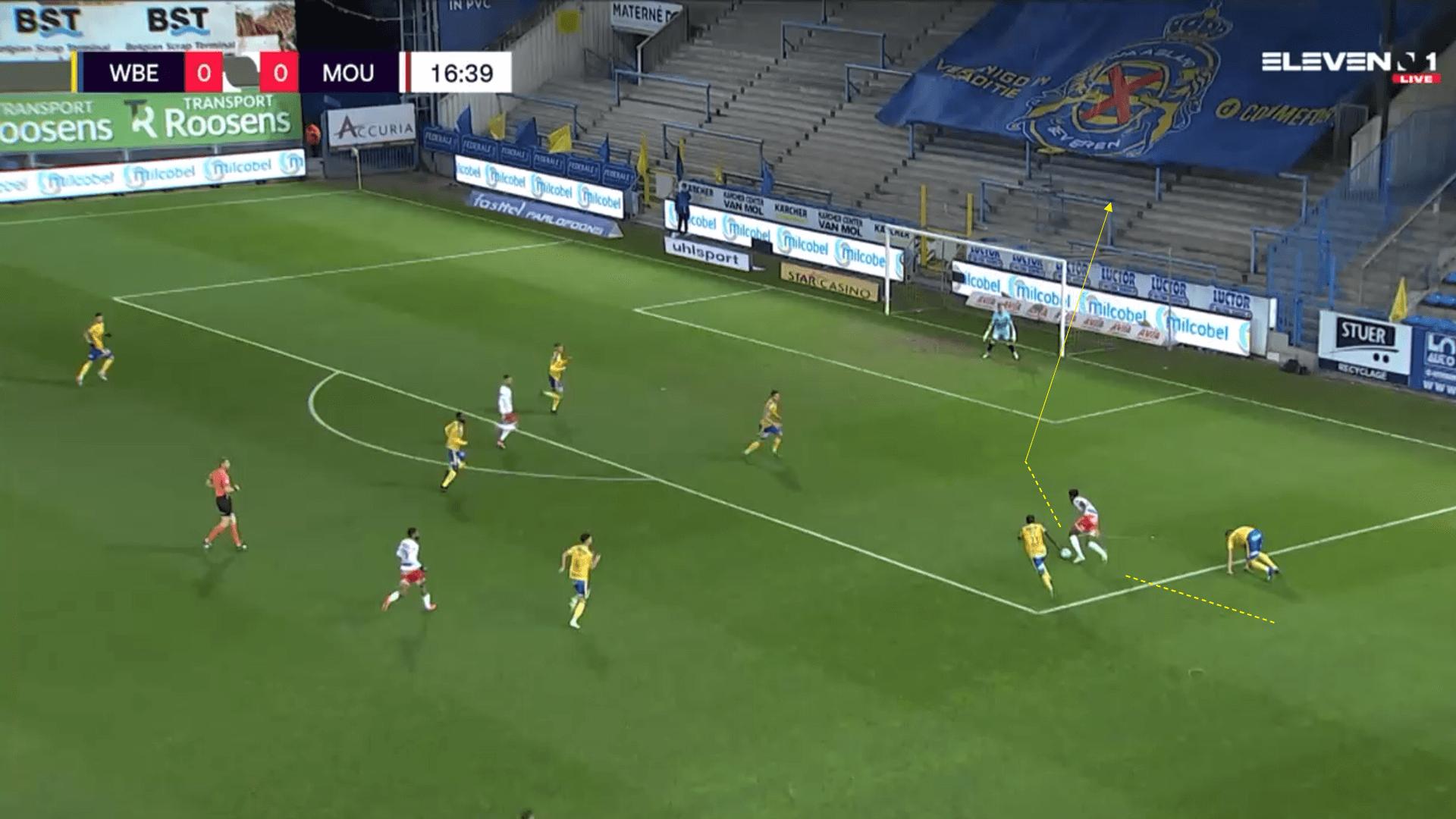 Belgian Pro League 2020/21 - Waasland Beveren v Royal Mouscron - tactical analysis tactics
