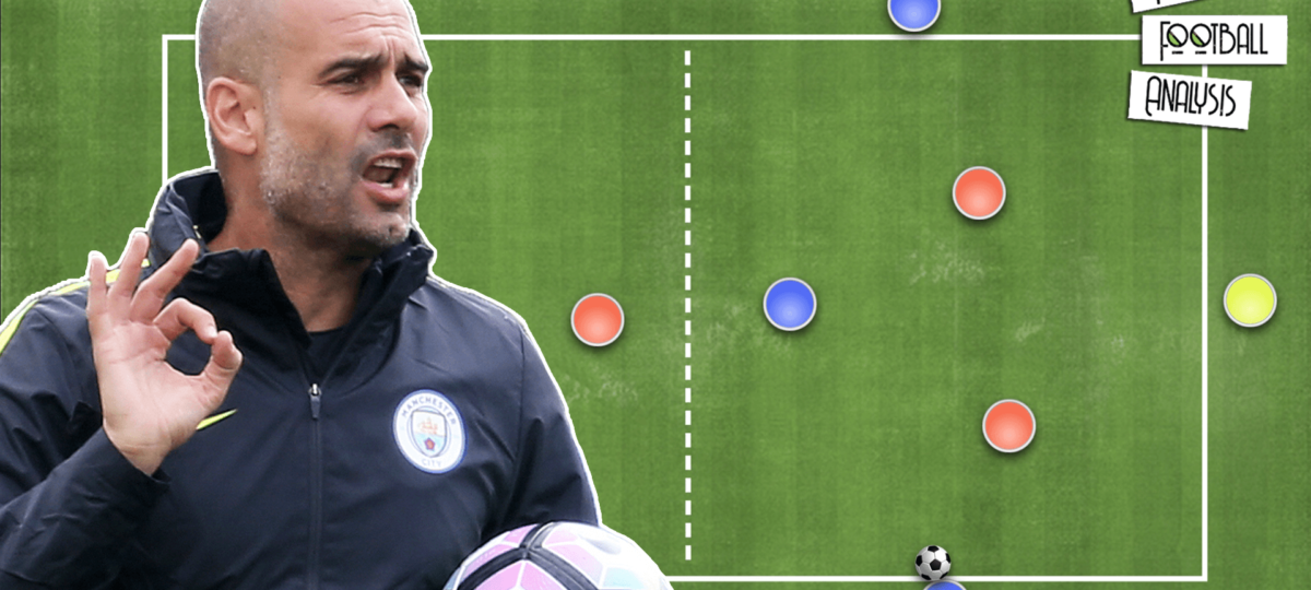 Coaching: Pep Guardiola's Overoad To Isolate - Rondos & Position Games - tactical analysis tactics