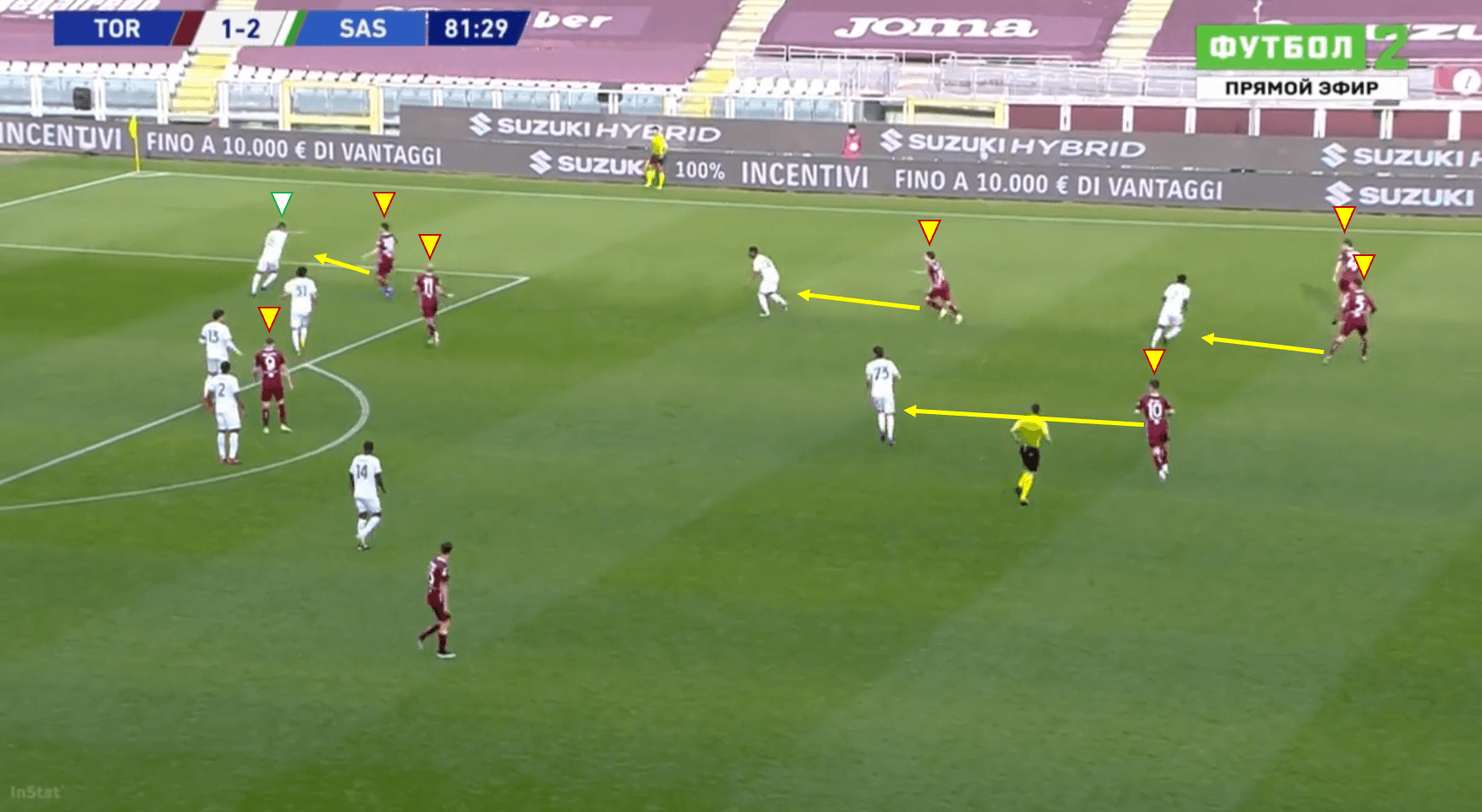 Torino tweaks: Four key tactical switches that saw them shock Sassuolo tactical analysis tactics