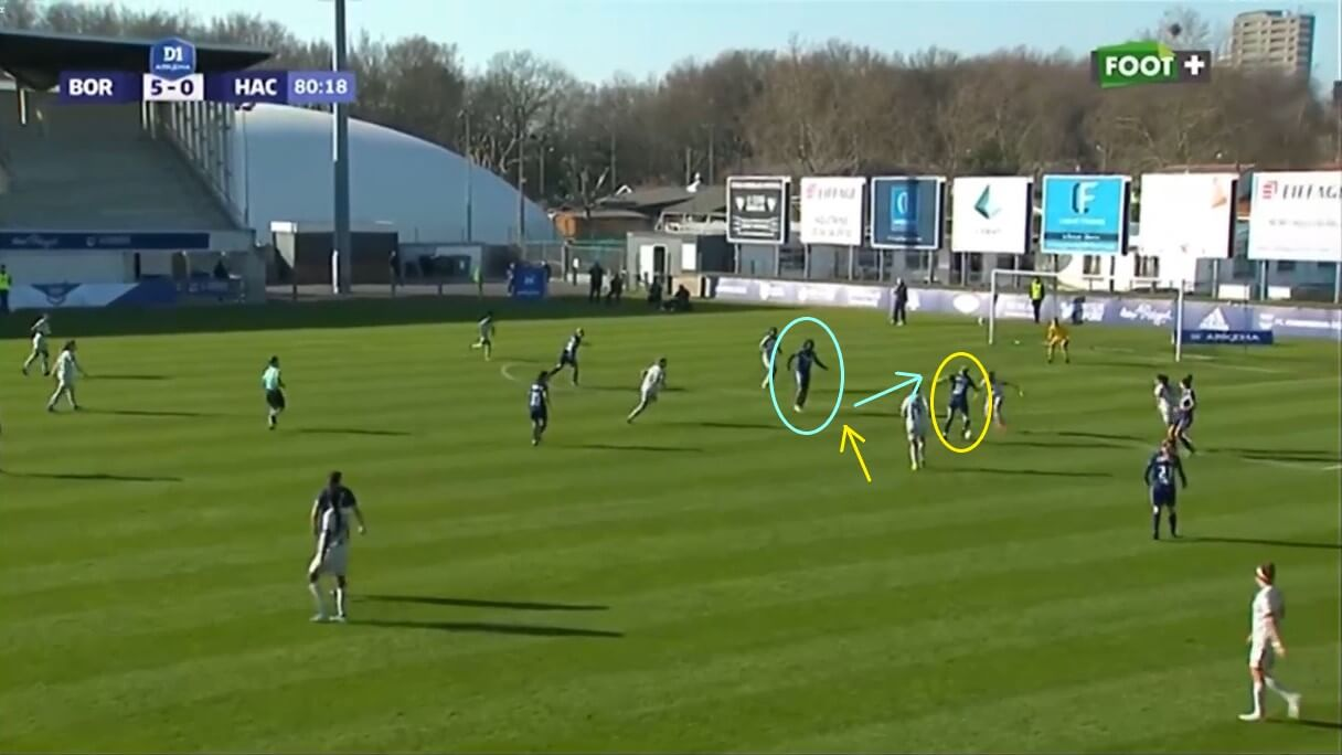 Khadija Shaw at Bordeaux 2020/2021 - scout report - tactical analysis tactics