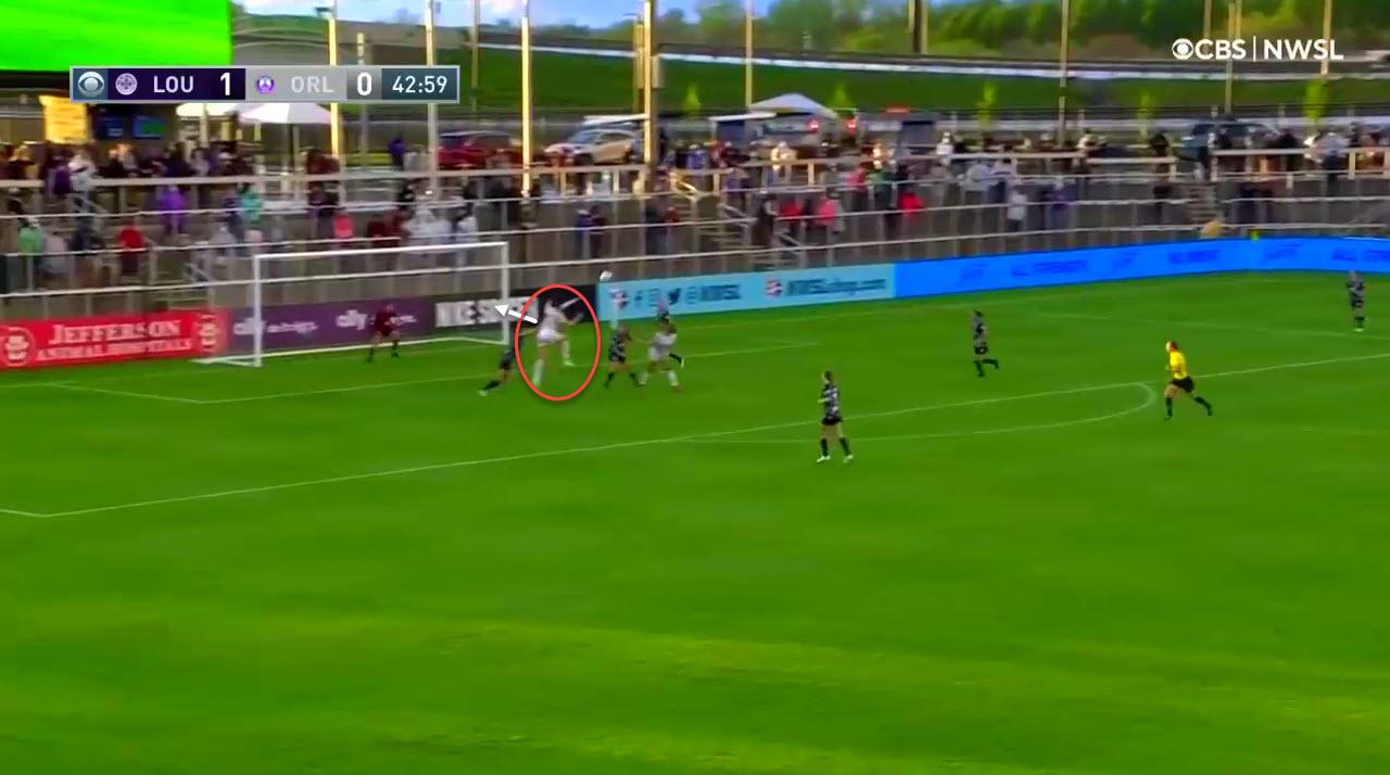 Taylor Kornieck at Orlando Pride 2021 - scout report tactical analysis tactics