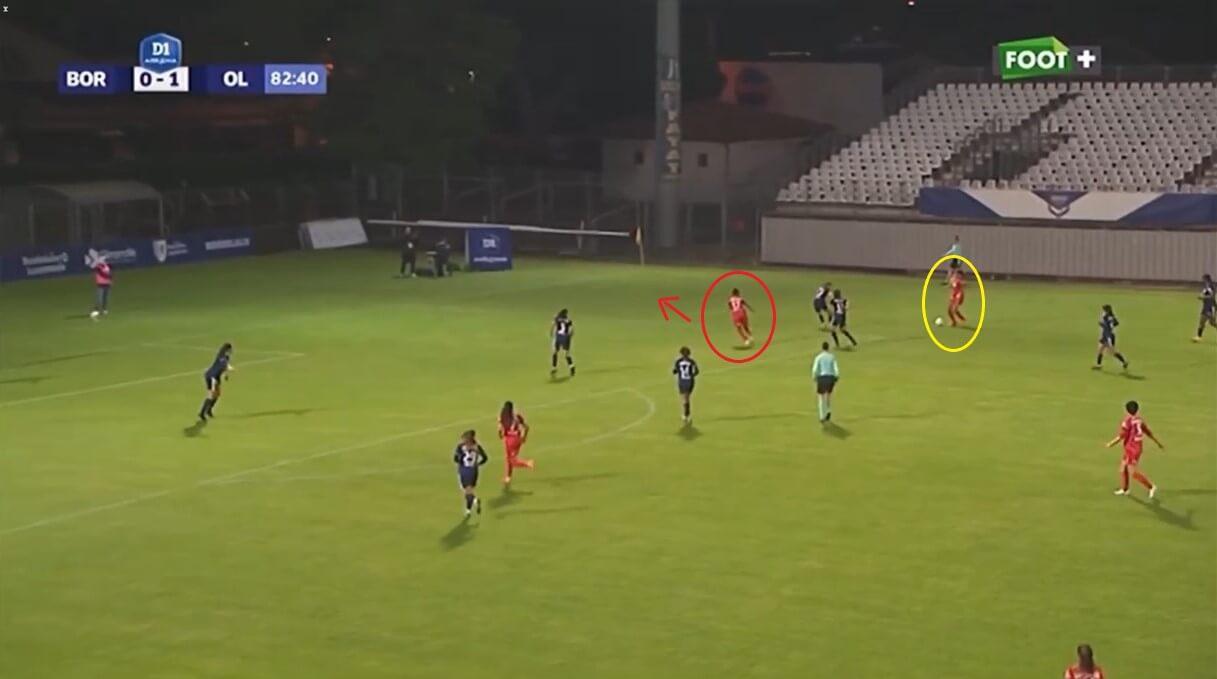 Nikita Parris at Lyon Feminin - scout report - tactical analysis tactics