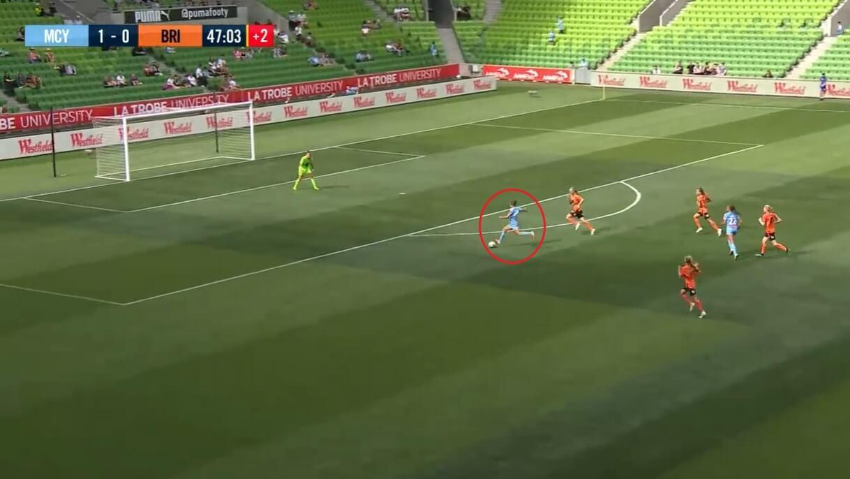 Kyah Simon at PSV Vrouwen 2020/2021 - scout report - tactical analysis tactics