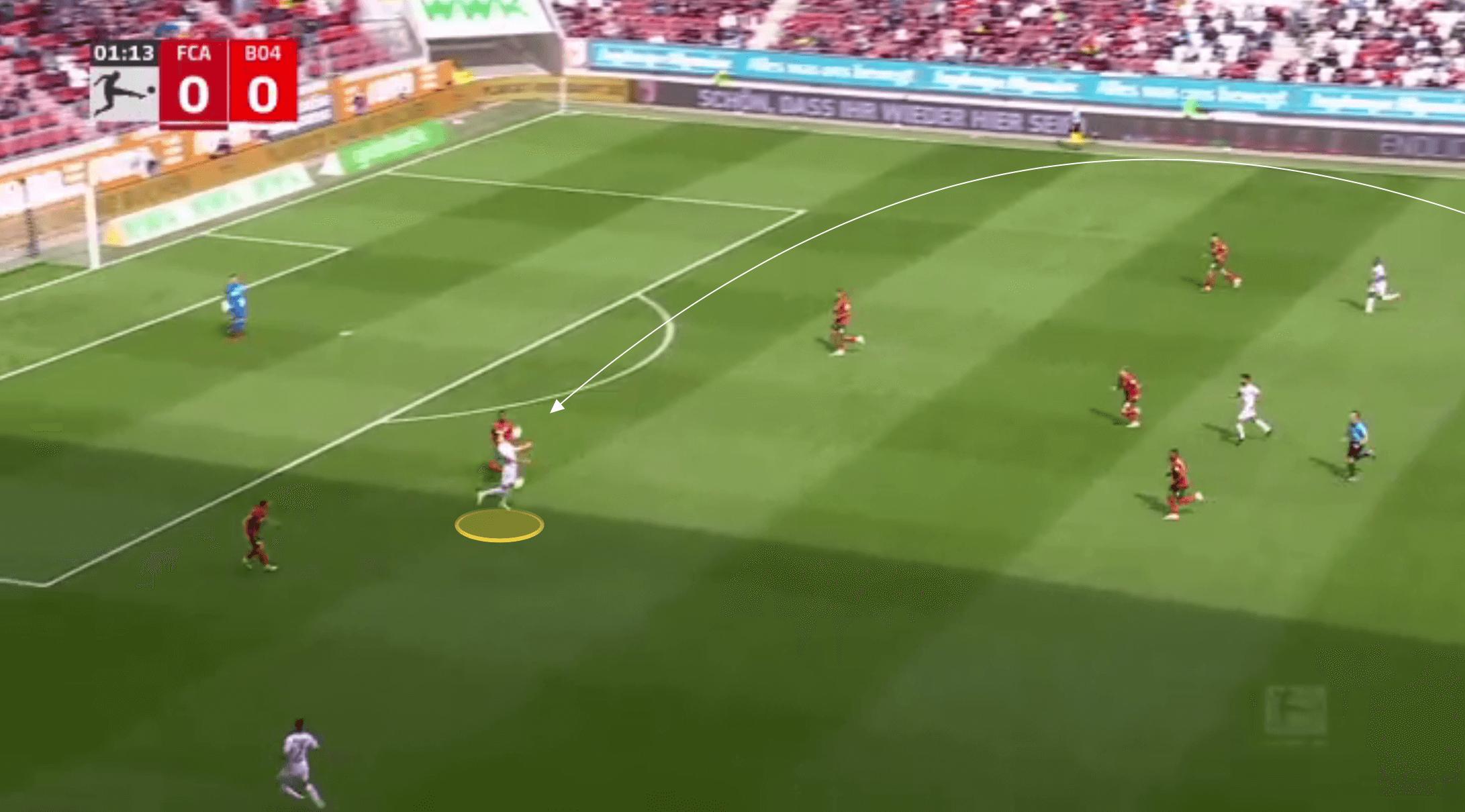 Bundesliga 2021/22: Patrik Schick at Bayer Leverkusen - scout report tactical analysis tactics