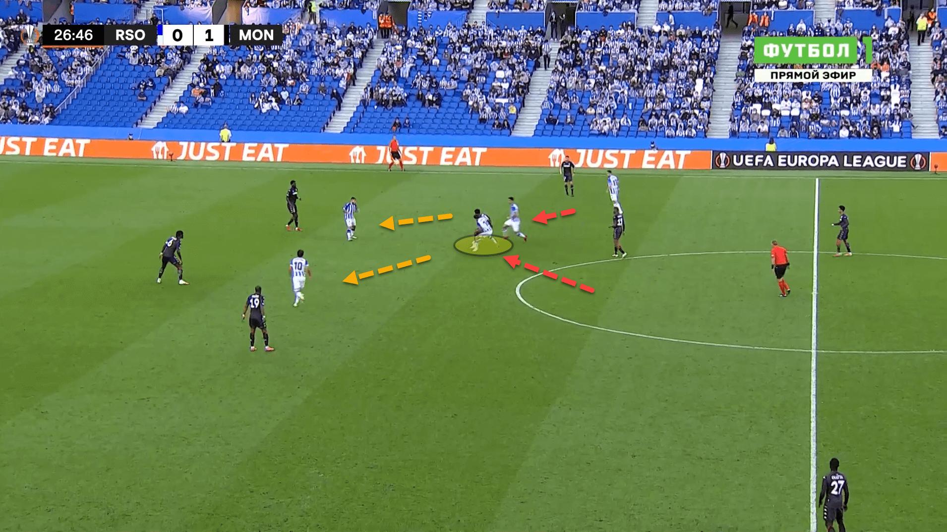 UEFA Europa League: How Real Sociedad struggled to break down AS Monaco's deep defensive block – tactical analysis