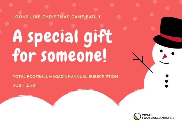 Total Football Analysis Magazine Christmas Gift Subscription